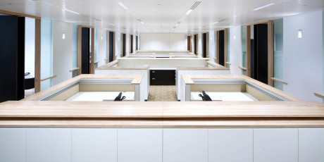 Open plan secretarial workstations
