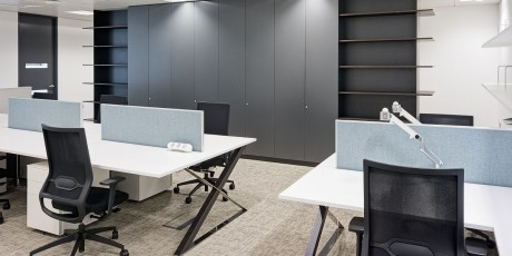 open plan office desks