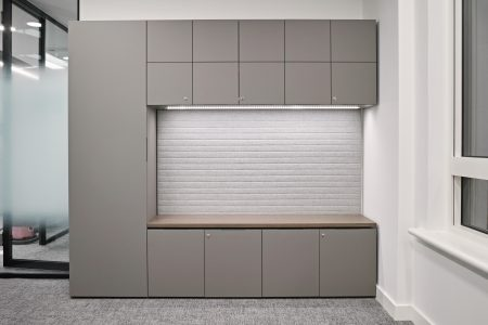 HK executive office storage wall in Fenix