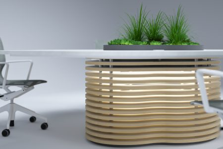 collaboration_meeting table base with office Plants. wellbeing