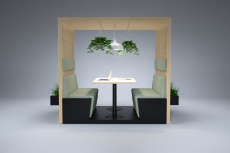 HK meeting wooden breakout booth with Plants scaled